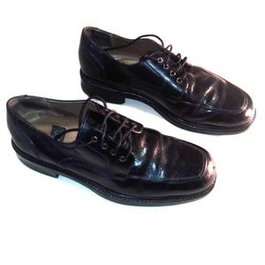 NUNN BUSH 8 Black Leather Dress Shoes